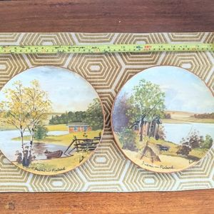 Gorgeous Handpainted Wooden Plates of Finland